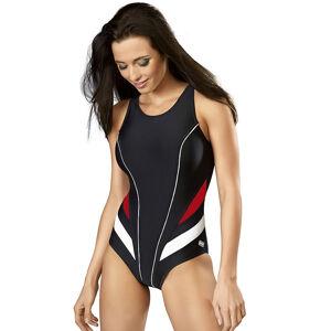 Sportovní jednodílné plavky gWINNER Liana černo-červená 36