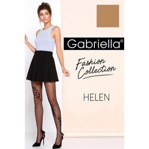 Dámské punčochové kalhoty Gabriella Helen code 264 lískooříšková/černá 2-s