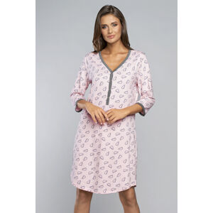 Těhotenská/kojící noční košile Italian Fashion Loja r.3/4 Losos s