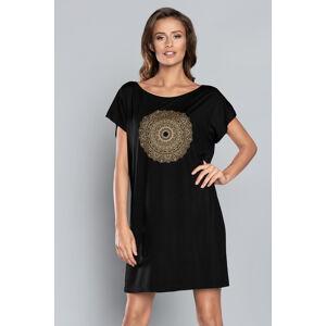 Dámská noční košile Italian Fashion Mandala černá l
