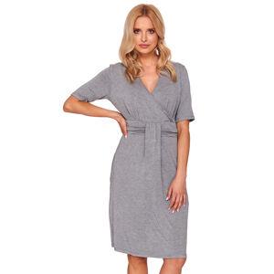 Těhotenská noční košile Dn-nightwear TCB.9116 tmavě šedá l