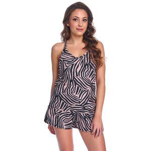 Dámské pyžamo Dn-nightwear PM.9995 zebra mono l