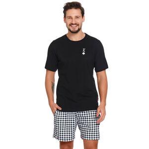 Pánské pyžamo Dn-nightwear PMB.4240 Černá 2xl