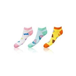 Dámské nízké ponožky Bellinda Crazy Socks BE491005-309 3pack léto 35-38
