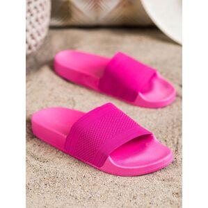 Moderní růžové  nazouváky dámské bez podpatku 36
