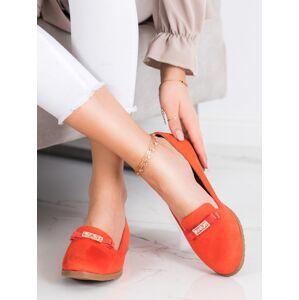 Originální dámské  baleríny oranžové bez podpatku 41