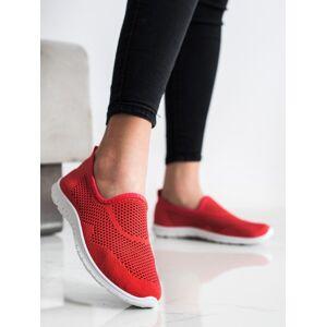 Originální dámské červené  tenisky bez podpatku 36