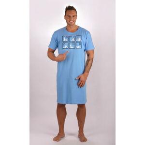 Pánská noční košile Kamasutra - Cotton Shop světle modrá M