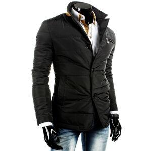 Pánská přechodová bunda na knoflíky B.H FOREVER černá - Černá / L - DSTREET L