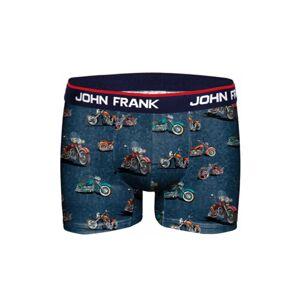 Pánské boxerky John Frank JFBD284 XL Modrá