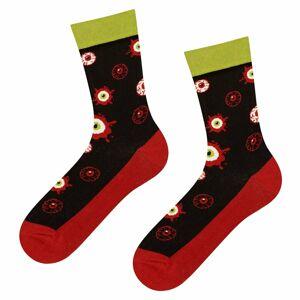 Pánské i dámské vzorované ponožky Good Stuff oči - SOXO černá- MIX barev 35-40