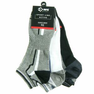 Pánské ponožky 3pcs CSM170-102 černošedobílá - Moraj černo/šedo/bílá 39-42