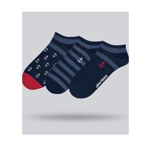 Pánské ponožky John frank JF3SS20S21 UNI Tm. modrá