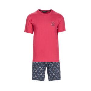 Pánské pyžamo 13692 - Vamp červená vzor M