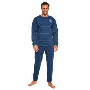 Pánské pyžamo 308/176 Follow me 2 - CORNETTE tmavě modrá S