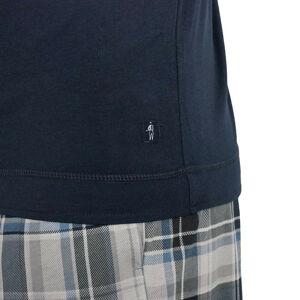 Pánské pyžamo 500001 - 477 - Jockey modrá/ káro 6XL