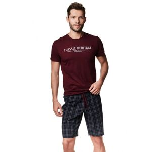 Pánské pyžamo Henderson 39258 M Hnědá
