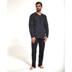 Pánské pyžamo Verious 139/12 - Cornette tmavě modrá/proužky XL