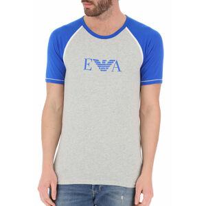 Pánské tričko 110811 0P529 00048 šedomodrá - Emporio Armani šedo-modrá L