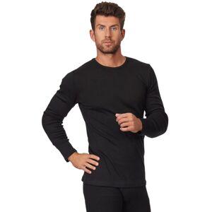 Pánské tričko 214 plus black - CORNETTE černá 5XL