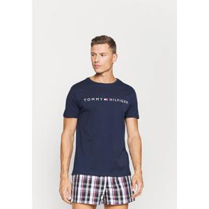 Pánské tričko UM0UM01434 DW5 tmavě modrá - Tommy Hilfiger tmavě modrá XL