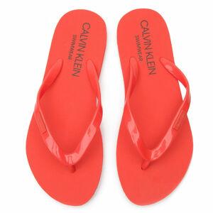 Pantofle KW0KW00395-659 oranžová - Calvin Klein oranžová 37/38