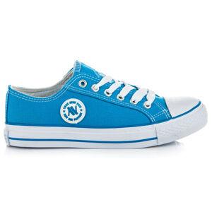 Perfektní modré tenisky v retro designu 40