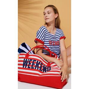 Plážová taška Weekend TR461 - Noidinotte modro-bílá uni