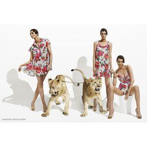 Plážová tunika 3084 - Maryan Mehlhorn květinový print S