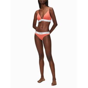 Podprsenka bez kostice QF5650E-GPT oražová - Calvin Klein oranžová M