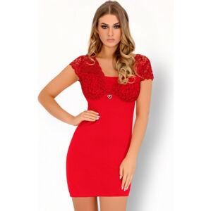Pohodlná košilka Mishkata červená - LivCo Corsetti červená L/XL