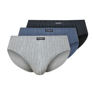 Pánské slipy CLASSIC 3P 1446 černá-modrá-šedá XL