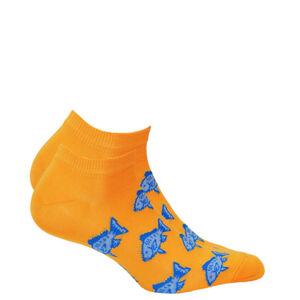 Pánské kotníkové ponožky CASUAL oranžový 39-41