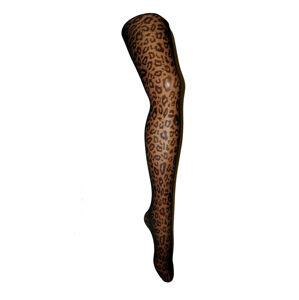 Dámské punčochové kalhoty LEOPARDO 20 BLACK\RED 3