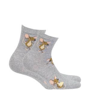 Dámské vzorované ponožky WOMAN růžová 39/41