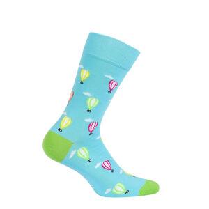 Vzorované pánské ponožky PERFECT MAN-CASUAL tyrkysová 42/44