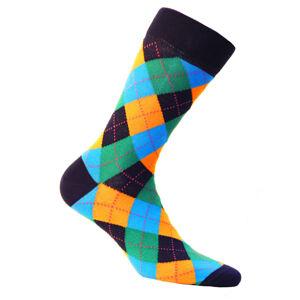 Vzorované pánské ponožky PERFECT MAN-CASUAL Námořnictvo 42/44