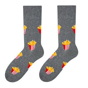 Pánské vzorované ponožky 079 Šedá 39-42