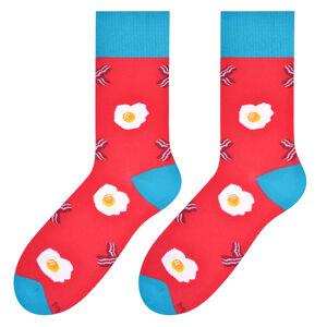Pánské vzorované ponožky 079 malinová/vajíčka 39/42