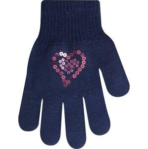Rukavice s flitrovým srdcem R-99A mix-dívčí 16 cm