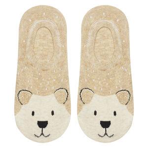 Dámské ponožky SOXO - Medvídek béžová 35–40