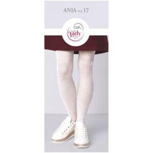 Vzorované punčochové kalhoty ANIA W.17 bílá 152/158