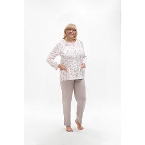 Dámské pyžamo 202 MARIA BIG béžový 4XL