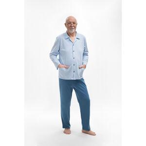 Rozepínané pyžamo 403 ANTONI BIG Modrá 4XL