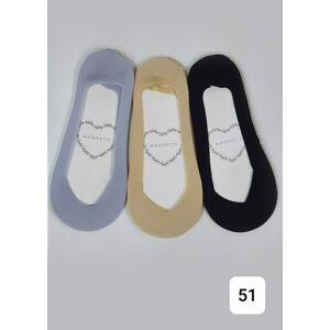 Dámské ponožky se vzorem 51 šedá Univerzální