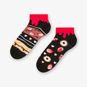 Krátké asymetrické pánské ponožky 035 Černá 43-46
