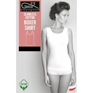 Dámská košilka/tílko - Seamless Cotton Boxer Shirt bílá S