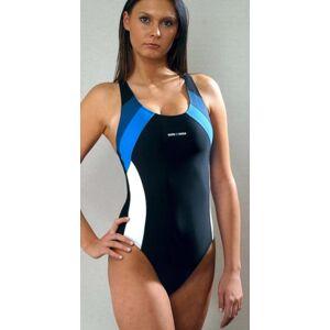 Jednodílné dámské plavky 715 námořnická modrá XL