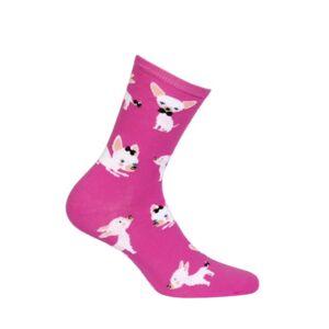 Dámské vzorované ponožky SKIETY růžový 39-41
