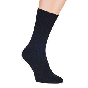 Ponožky - jehněčí vlna 53258 Černá 39-41